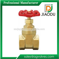 TOP Customized forged dn15 20 25 32 40 cw617n female threaded pn16 water meter brass gate valve with iron handle wheel