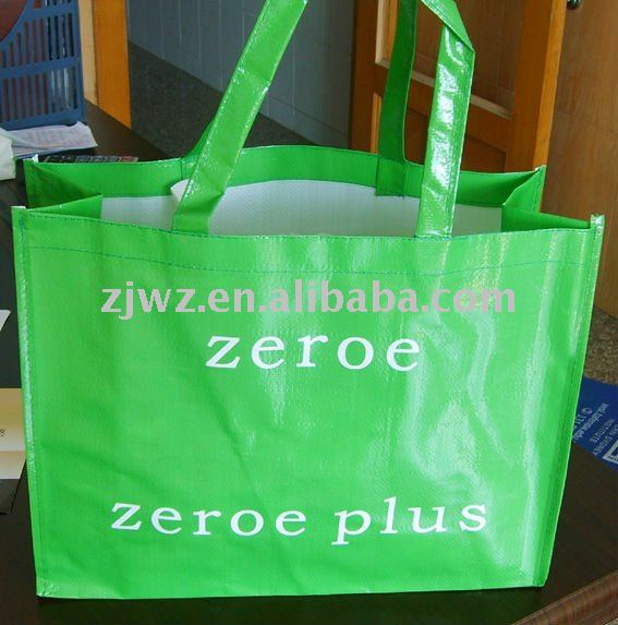 High quality PP woven shopping bag with full color printing