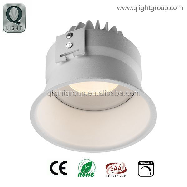 Deep recessed 7W/10W LED down light/trimless citizen COB down light for hotel