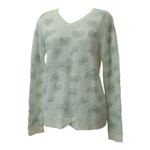 Acrylic yarn jacquard sweater machine 100% cashmere like pullover