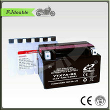 YTX7A-BS Battery/Maintenance free Dry Charge electric Motorcycle battery 12V9AH