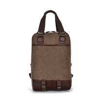 1BP0142 New Design Promotional Wholesale Outdoor School Khaki Canvas Laptop Handbag Japanese Brand Backpack