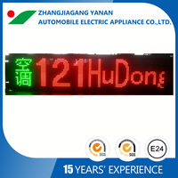 Bus led programmable moving message system
