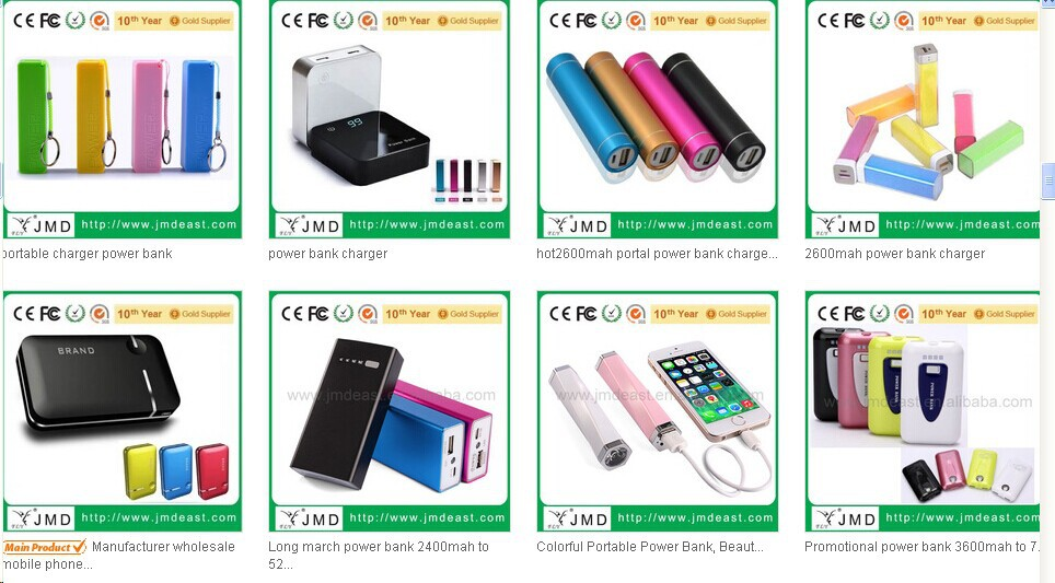 Lithium Polymer Best Quality Universal Portable Power Bank 20000mah
