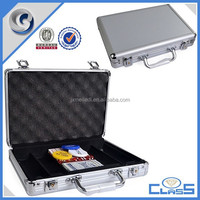 MLD-PC147 Silver round aluminum 200pcs chips package case for gambling