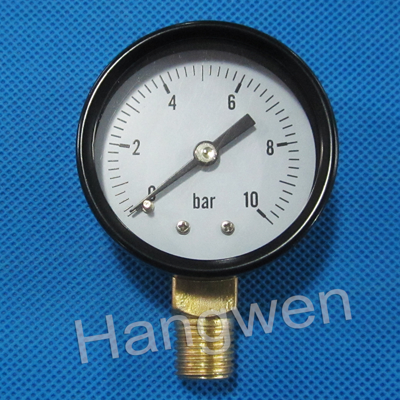 Air and water test radial type pressure gauge manometer
