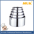 MUK hot sale hotel restaurant different sizes straight style short body stainless steel soup barrel