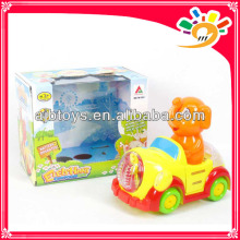 Hot Plastic B/O Cartoon Elephant Car Toys For Baby