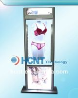 New Invention ! magnetic levitation led display rack for underwear, nipple showing bra