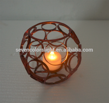 SCL0007 metal candles and colored votive candle holders for wholesale