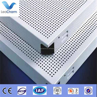 Perforated metal false ceiling recording studio soundproofing