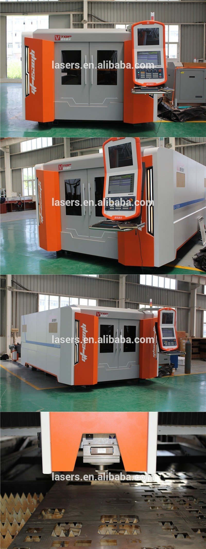N-light fiber laser cutting machine for aluminum / copper / brass / galvanized steel sheet