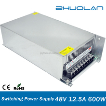 600w voltage regulator ac dc 48v 12.5a 600w ups power supply for christmas lights