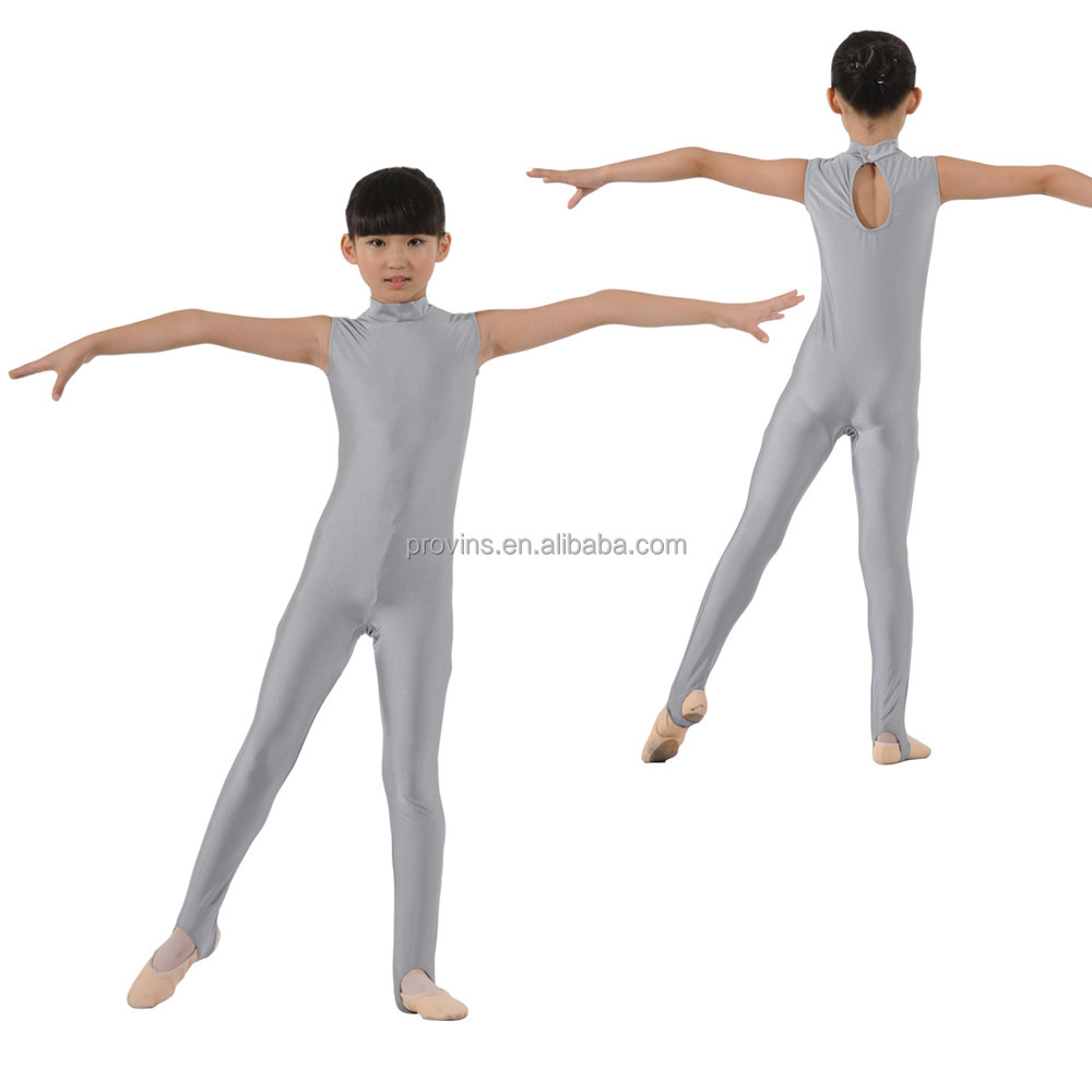 Dansgirl Turtle Neck Sleeveless Dance Bodysuits Gymnastics Tights Kids