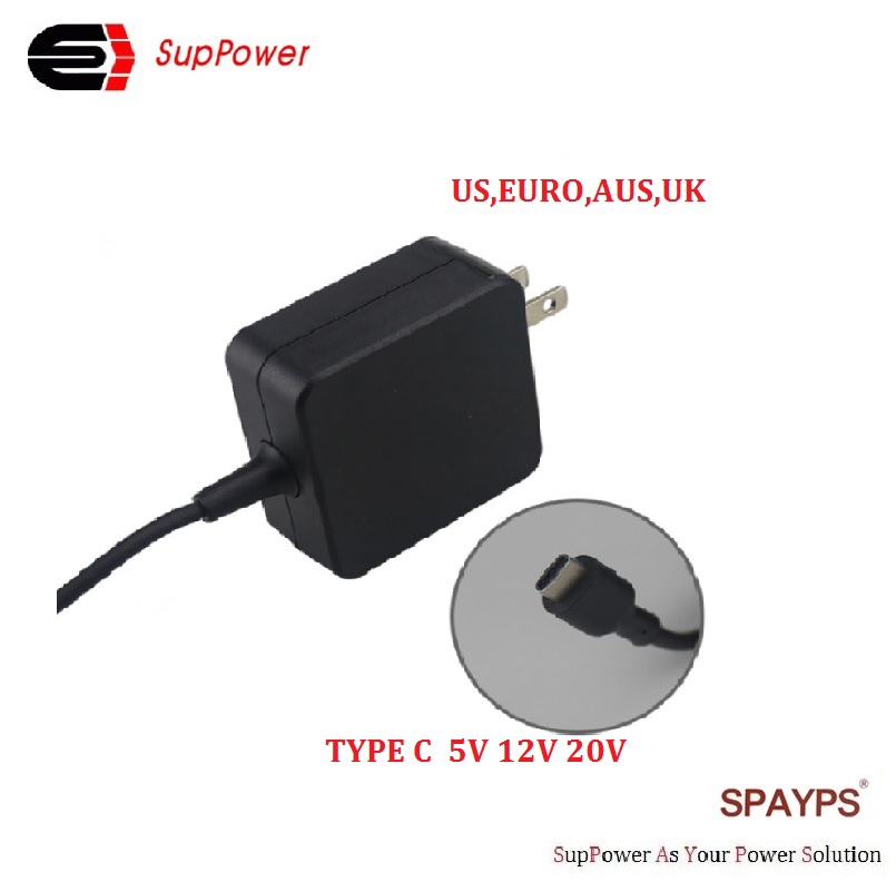 Wholesale 65w type c usb charger Ac laptop power adapter