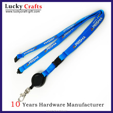 custom cheap cute silk- screen retractable reel lanyard
