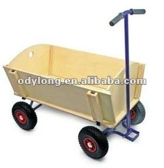 Wooden cart,Tools Cars with handle for gardener TC001