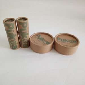 Wholesale kraft paper biodegradable cosmetic paper tube package