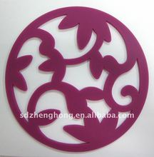 Different shape soft folding Silicone Trivet for pot,bowl,cup
