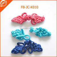 colorful cloth covered chinese knot button frog garment button