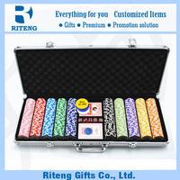 2015 Cheap Custom Case Poker Chip Set