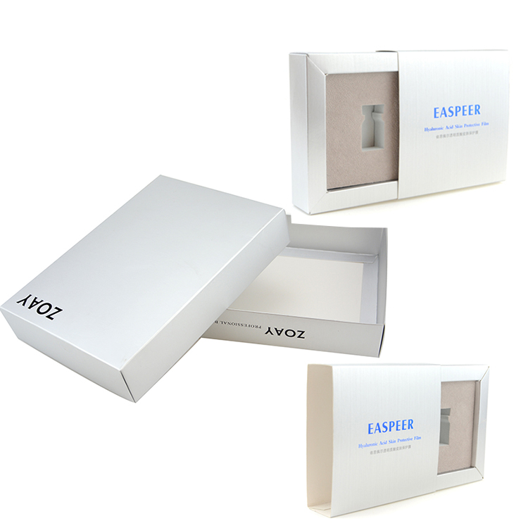 China factory custom printed essential oil packaging boxes no minimum white gift paper box