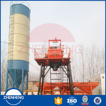 Popular Mini Mix HZS25 25m3/h Hopper Lift Simple Concrete Batching Plant