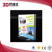 retail display Coustom made LED acrylic single side vacuum formed light box for chain shop