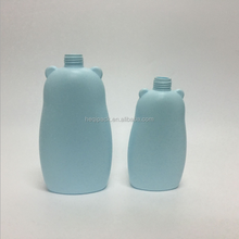 Lovely children lotion packing 500ml blue plastic teddy bear bottle with pump