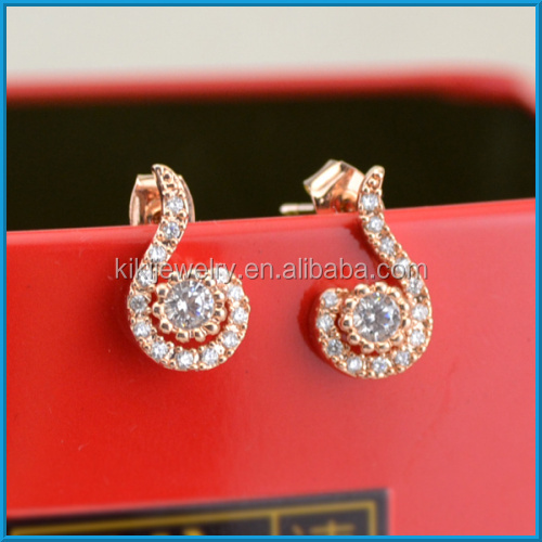 Wholesale cheap gold diamond earrings stud for boys