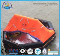 CE approved throw-over board liferaft with container