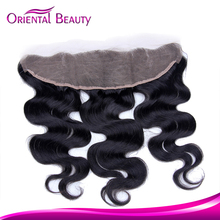 Quick shipping absorbing 8-24inch free parting lace closure body wave hair closure