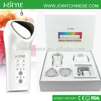 High tech Rechargeable IPL LED light photon galvanic microcurrent e-light beauty equipment