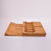 creative bamboo knife block wood knife block