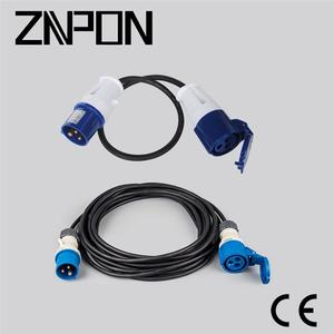 CEE 16A 2P+E 220V power cord extension cable
