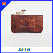 Handmade Brown Distressed Genuine Leather Ladies Clutch Bags Women