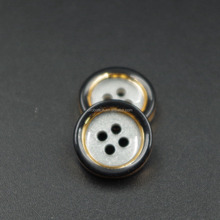 4 Holes custom logo resin buttons for fur coats