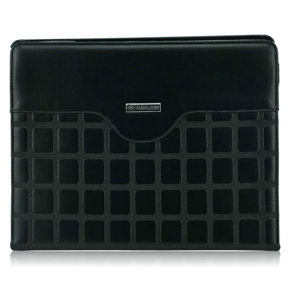 Black stand leather case for ipad 3