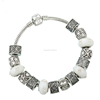 DIY Yiwu Bead Bracelet European White