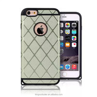2016 newest fashion fenstral fabric TPU+PC cell phone case for iphone6plus
