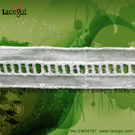Good Quality Dubai Embroidery Cotton Ladder Lace Trim For Blouse