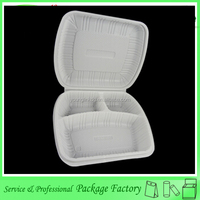 Biodegradable plastic compartment disposable lunch tray