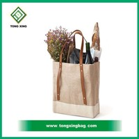 Latest Design Red Wine Jute Tote Bags