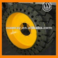 big truck tire with wheels, Hot Sale Solid Rubber Tires with Rims