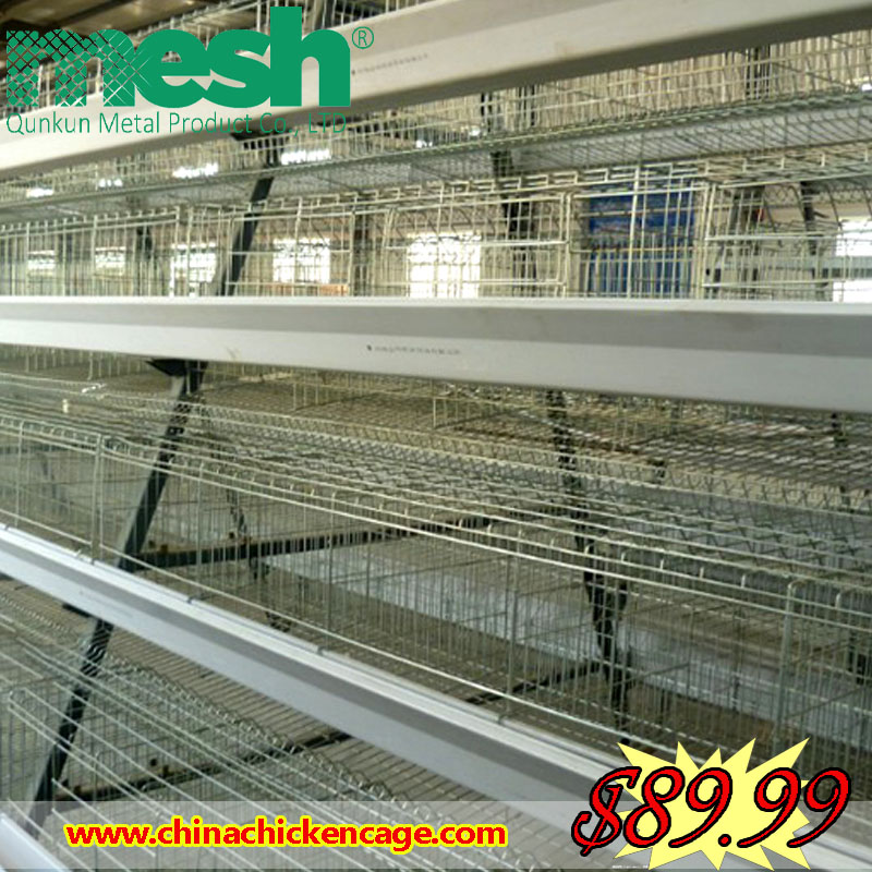 Metal cages broiler rearing cage / battery cages laying hens