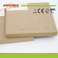Furniture Grade Standard Size Texture MDF Wood Board for Interior Use