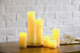 S/6 Battery Powered LED Slim Pillar Wax Candles Flameless LED Candles