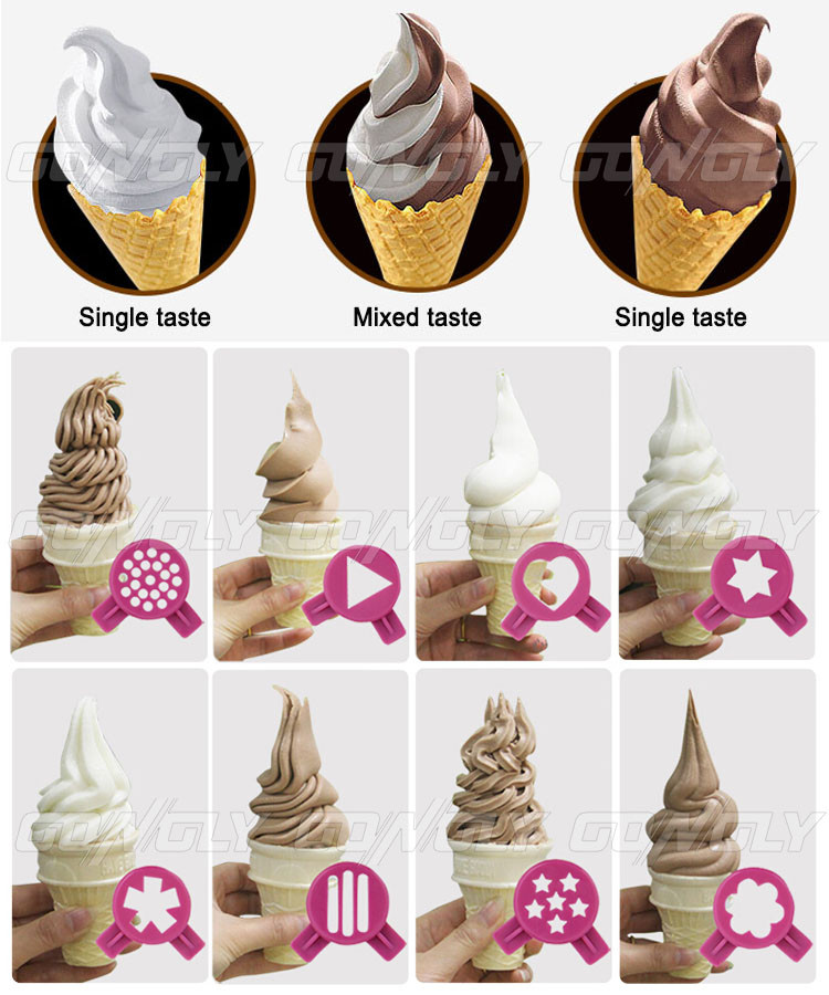 Unique design milkshakes big capacity ice cream machine / table top soft serve ice cream machine