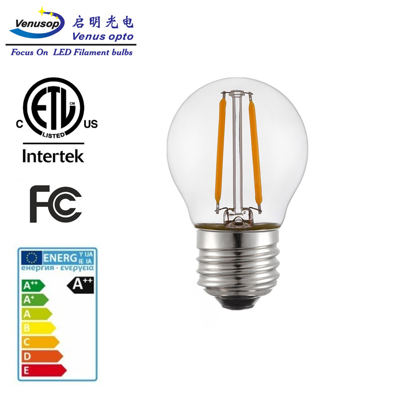 PSE FCC CE G45 E27 1.5W Decorative LED Filament Bulb LED Light Bulb