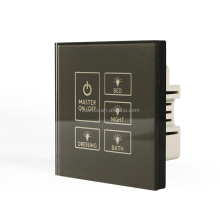 1/2/3/4/5 gang touch screen light switch for hotel guest room